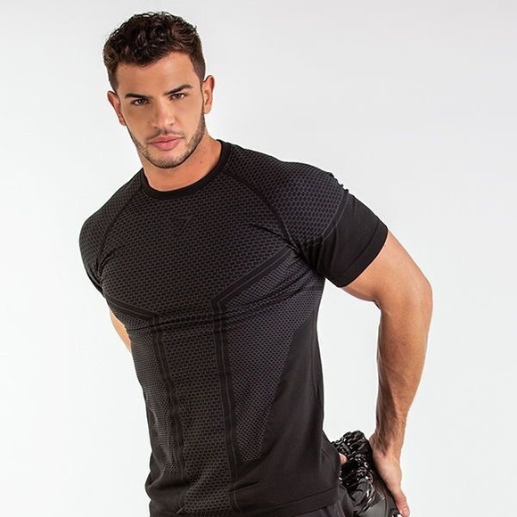 stylish design compare price lower price with Gymshark Onyx Imperial T-shirt - Black